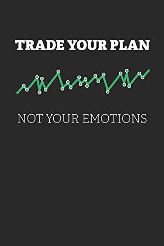 Notizbuch: Aktien, ETF, Fond, Reit und Anleihen Notizen für jeden Trader, Aktienhändler oder Privatanleger ♦ über 100 Seiten für alle Notizen, Kurse, ... 6x9 Format ♦ Motiv: Trade your plan