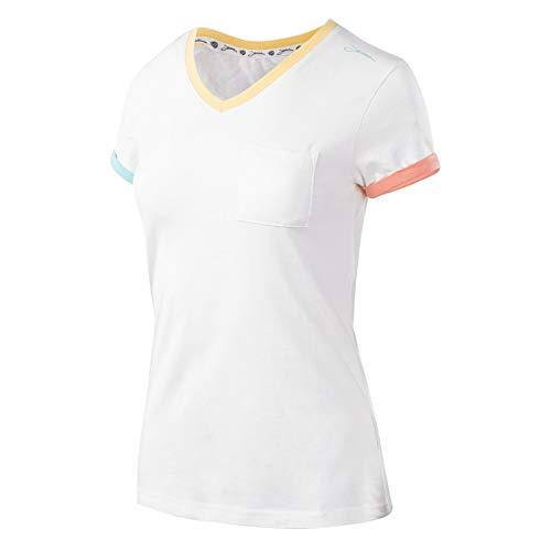 Iguana Damen LANRE W T-Shirt, Egret/Colorful, L