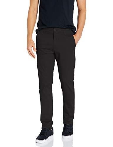 Southpole Men's Flex Stretch Basic Long Chino Pants, Black(New), 32X32