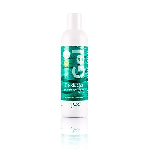 Alskin - Gel de Ducha Sin Parabenos y Sin Sulfatos | Vegano | Gel de Baño a Base de Microalgas Indicado Para Pieles Sensibles | 250mL
