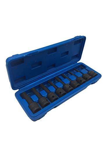 Kraft Biteinsatz Stecknüsse Set 9 teilig im Koffer – Steckschlüssel für Ribe Druckluftgeräte Schlagschrauber hochwertig für eine lange Lebensdauer im Professionellem Einsatz