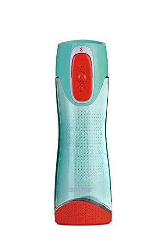 Contigo Trinkflasche Swish Autoseal große BPA-freie Kunststoff Wasserflasche, auslaufsicher, für Sport, Fahrrad, Joggen, Wandern, 500 ml, Seagrove