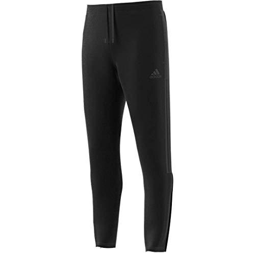 adidas Men's Tiro Track Pants, Black/Dark Grey Heather, Medium