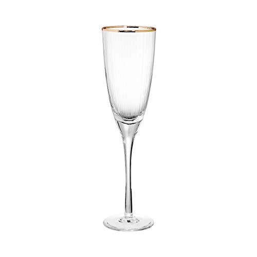 Butlers GOLDEN TWENTIES 4x Champagnerflöte mit Goldrand 250ml