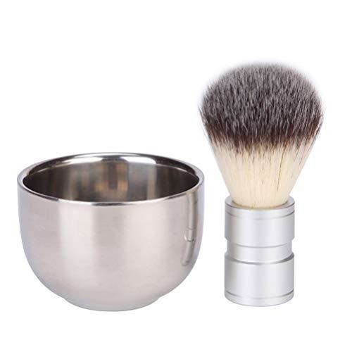 SOLUSTRE 2Pcs Bol de Rasage Et Brosse de Rasage Ensembles de Rasage pour Hommes Kit de Nettoyage de Barbe pour Hommes