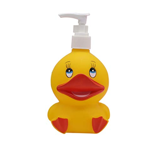 Hyever Deer Duck Cute Cartoon Animal Hand Soap Pump Lotion, Hand Soap, Shampoo, Shower Gel Dispenser, Suitable for Bathrooms, Kitchen Countertops, Bathroom Accessories (Yellow Duck)