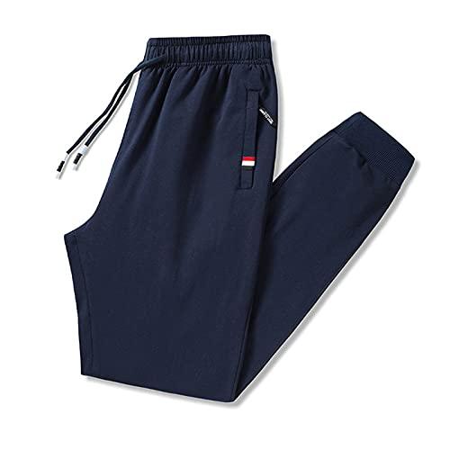 2021 Pantalones deportivos nuevos, pantalones de jogging de algodón liviano, suave, anti-arrugas con bolsillos, pantalones deportivos cómodos, estiramiento transpirable casual jogging cremallera panta