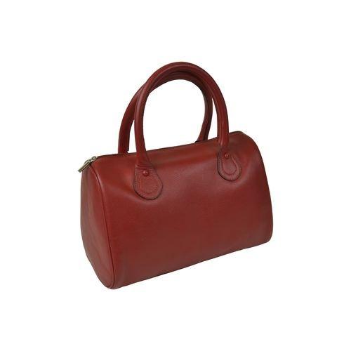 Bowlingtasche für Damen–Rindsleder–Rot