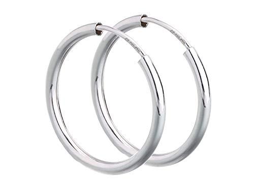 1 Paar Creolen Durchmesser 2cm echt 925 Silber