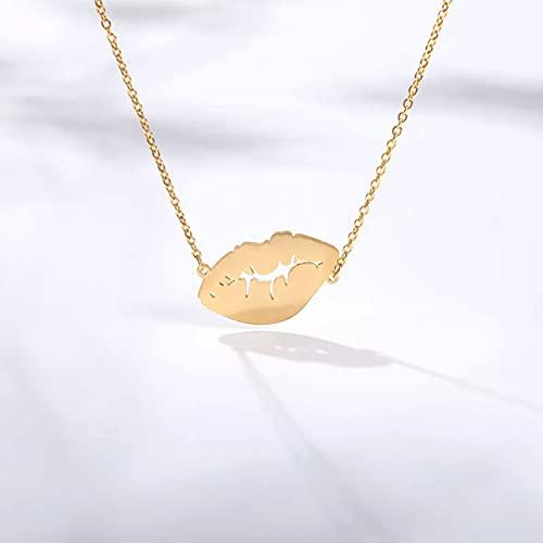 Colgante de collar Collar para mujer Flaming Lips Jewelry Club nocturno Cadena de oro de acero inoxidable Fantasy Collares Regalo de joyería Boho Collar de la amistad Regalo de cumpleaños para ella