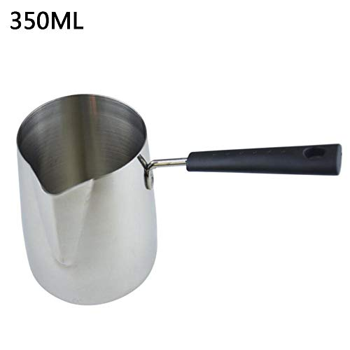 Milk Frothing Pitchers Pan With Long Handle Stainless Steel Suitable For Coffee Latte Art And Frothing Milk Available In 12 Ounce 20 Ounce And 33 Ounce Sizes