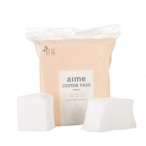 ZSDFW 1000 unids/bolsa de maquillaje almohadillas de algodón removedor de maquillaje fino suave no tejido facial limpia toallitas de algodón almohadillas de lana para quitar la cara ojos uñas