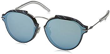 Dior Grey Light Blue Geometric Ladies Sunglasses