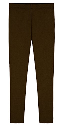 Popular Big Girl's Cotton Ankle Length Leggings - Brown - 10