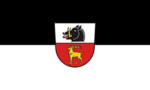 Unbekannt magFlags Tisch-Fahne/Tisch-Flagge: Inzigkofen 15x25cm inkl. Tisch-Ständer