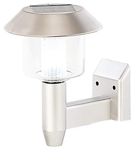 Lunartec LED Solar Lampe: Solar-LED-Wandleuchte WL-101, 1,2 Lumen, 0,9 Watt (Lampe außen)