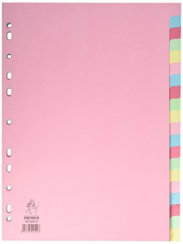 Separadores Archivador 4 Anillas Color Pastel Marca White Box