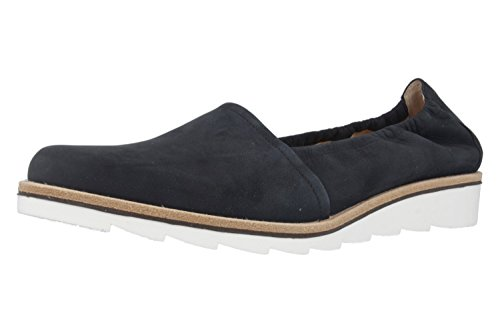Gabor Fashion Damenschuhe 41.444.16 Damen Slipper Espandrille Leder (Nubukleder) Blau (Nightblue), EU 39