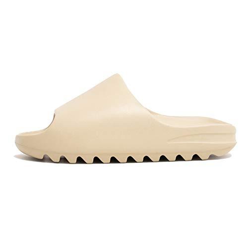 Unisex Slide Sandal, Soft Foam Slides, Indoor & Outdoor House Slides Slippers, Light Weight EVA Slides Shoes-Beige-4.5