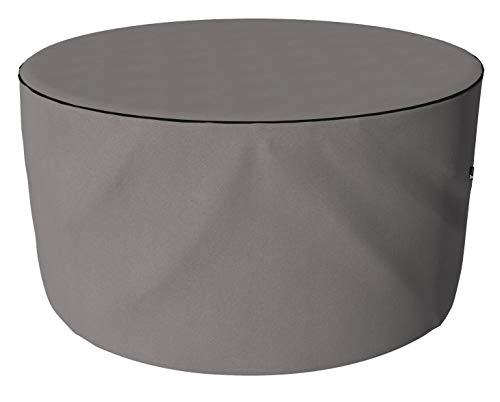 SORARA Housse de Protection Hydrofuge pour Salon de Jardin Table Ronde et Chaise | Gris | Ø 178 x 90 cm
