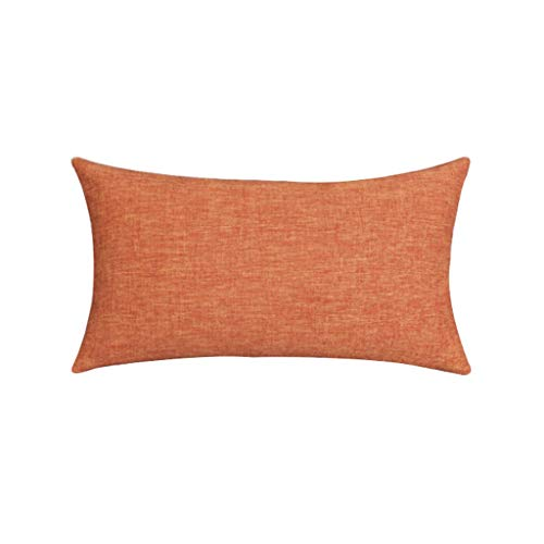 Almohada Almohada de Viaje Almohada lumbar rectangular Sofá cojín para almohada de oficina, color sólido de algodón grueso, con cremallera invisible extraíble y lavable Almohada de Viaje Almohada Cerv