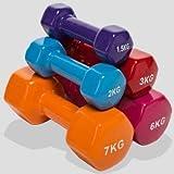 1 Pesa de Gimnasia Neopreno o Antideslizante, Mancuerna Ejercicio Fitness de Neopreno con Equilibrio Central de Peso del Brazo de Pilates (MORRON-2kilo