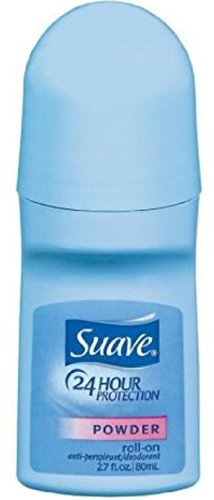 Suave 24 Hour Protection Anti-Perspirant Deodorant Roll-On Powder 2.70 Ounce (Value Pack of 4)