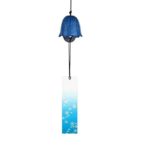 Baoblaze Carillon éolien Japonais Furin Nambu en Fonte Iwachu Bells Cloche de Temple de Fer - Couleur #12