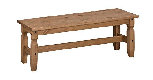 Mercers Furniture Corona Sitzbank, 120 cm, Holz, Antique Wax, 120 x 35 x 45 cm