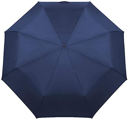 Ombrelloni parasole qualità 125 cm grande ombrello per auto all'aperto pioggia donne 3 pieghevoli completamente automatici di lusso bussiness durevoli uomini antivento ombrelli ( Colore : Blu )