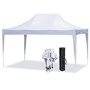 Erommy Outdoor 10x15 Ft Pop up Canopy Party Tent Heavy Duty Gazebos Shelters for Events,Wedding,Party-White