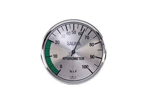 eliga Hygrometer silberfarben 135 mm
