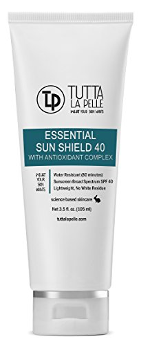 Zinc Oxide Sunscreen SPF 40 - Broad Spectrum UVA/UVB Protection - Water resistant (Up to 80 minutes) - Sunblock - Fragrance-free, - Lightweight - Vitamin C Antioxidant - 3.5oz