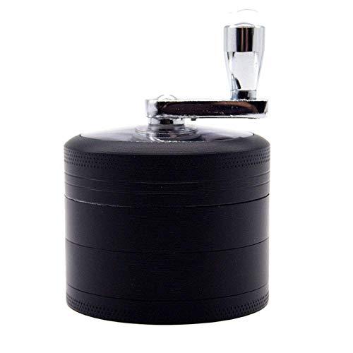 DFBGL Molinillo de Tabaco de Metal de 4 Piezas Molino de Mano Imán triturador de Hierbas de Humo Afilado (Color: Negro)