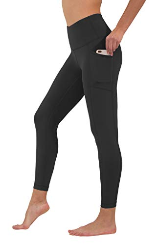 90 Degree By Reflex High Waist Tummy Control Interlink Squat Proof Ankle Length Leggings - Black - Medium