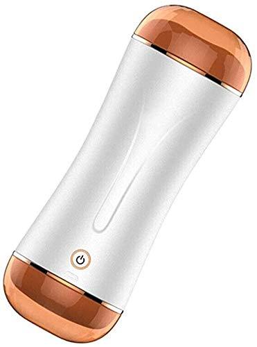 GamYzx 2-in-1 Mal Hands Free-doppelköpfiger Cup mit 10 verschiedenen Frequenzen (Switched mit 1 Button), The Gel mit sicherem und weichem Thermo-Kunststoff-Gummi