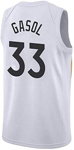 Jersey de baloncesto para hombres, 33 Toronto Raptors Estilo urbano, verano fresco transpirable Camisa de baloncesto de secado rápido de la camiseta Ventilador de la camiseta Versión prensada en calie