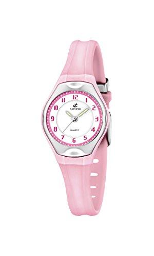 Calypso–Reloj de Cuarzo para Mujer con Correa de plástico en Color Blanco Esfera analógica Pantalla y Rosa k5163/L