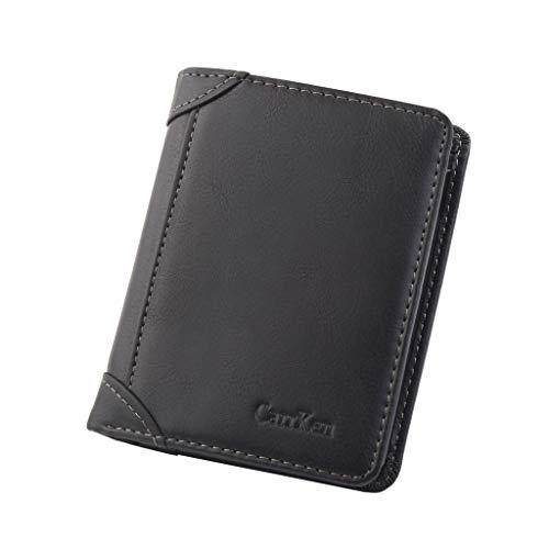 Billetera de Hombre Cartera Retro Corta Billetera Billetera multifunción multifunción Cartera Inteligente Mini Billetera para Cartera ID RFID Bloqueo Gran Capacidad Regalo Billeteras