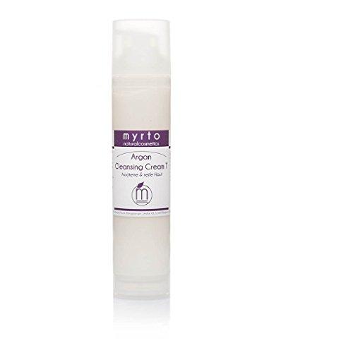 myrto – Bio Argan Cleansing Cream T - Reinigungscreme für trockene + reife Haut | ohne Duftstoffe - ohne Alkohol -tensidfrei - 100ml