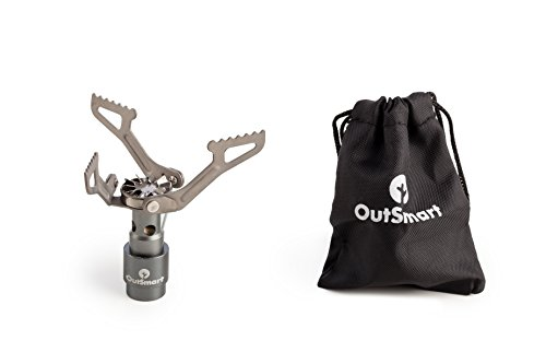 OutSmart Ultralight Titanium Gas Stove   Single Burner Portable Stove for Backpacking, Outdoor Camping and Hiking   Because a House While Traveling Doesn't Come with a Travel Stove