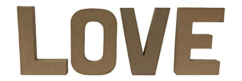 "Paper Mache Letters Love 8"" x 55"""
