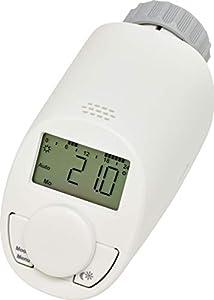 eqiva 132231K2 Termostato electrónico para radiador, Blanco
