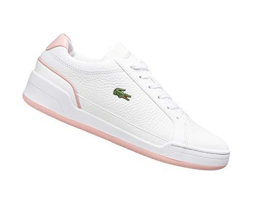 Lacoste Challenge 0721 1 SFA - Zapatillas bajas de piel para mujer, color Blanco, talla 40 EU