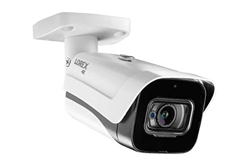 Lorex C861MB Indoor/Outdoor 4K Ultra HD Analog Metal Security Bullet Camera, 2.8mm, 135ft IR NV, Color Night Vision, Audio, Works with D841/D841B, DV900, LHV5100/W Series, Camera Only (M. Refurbished)