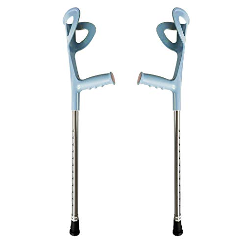 LoveinDIY 2Pcs Adjustable Collapsible Walking Forearm Crutches with Ergonomic Grips