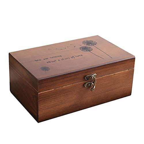 shiyi Caja de Almacenamiento Multifuncional 1PC Caja de Costura Caja de Madera Dries de Madera Organizador (Color : Brown, Size : 21.5X13.5CM)