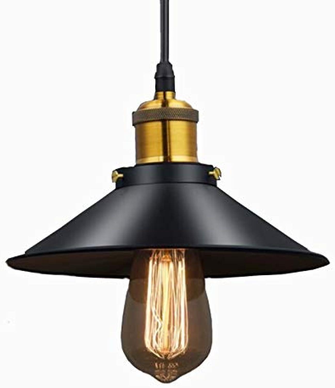 XY&XH Kronleuchter Moderne Lustre LED Kronleuchter Beleuchtung Schwarz Metall Deckenlaternen Vintage Licht Esszimmer Hanglamp Pendelleuchte, Durchmesser 22 cm
