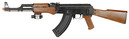 UKARMS P1147 AK47 Tactical Airsoft Spring Rifle with Laser & Flashlight
