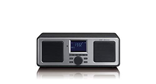 Lenco Digitalradio DAR-015 Stereo DAB/DAB+, Bluetooth und UKW Tuner (Senderspeicher, 2 Weckzeiten, Holzgehäuse, Kopfhörer-Anschluss), Braun